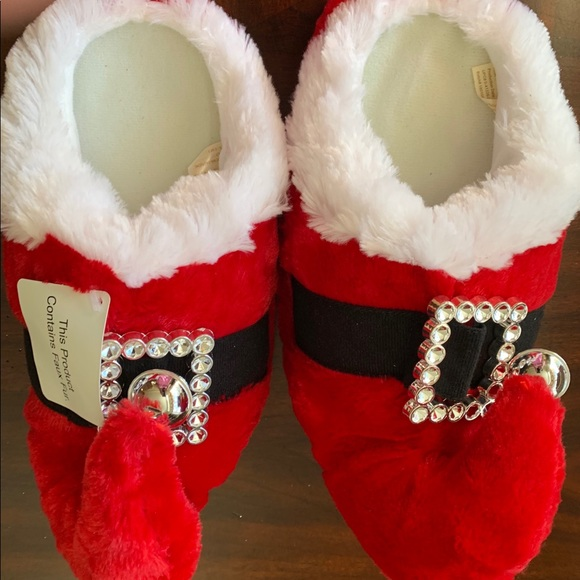 unknown Shoes - Santa Clause Slippers Size 7/8 New NWT